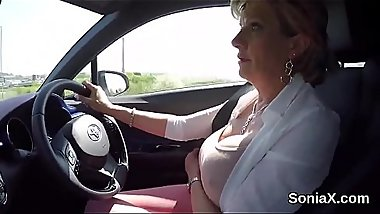 Unfaithful british mature lady sonia exposes her enormous hooters