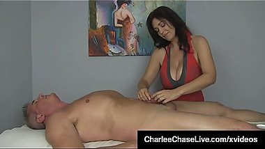 Happy Ending With Busty Milf Charlee Chase &amp_ Handjob Heaven!