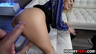 Hot step mom takes care of broken hearted son - mommy and son sex