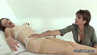Cheating english mature lady sonia shows her monster puppies