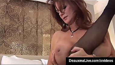 Huge Boobed Cougar Deauxma Grinds Young Paige'_s Pussy!