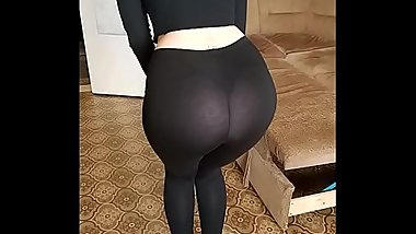 Big ass teen hot sexy girl big tits beautiful porn Black hard transparent leggings tight jeans and naughty top Snickers baby