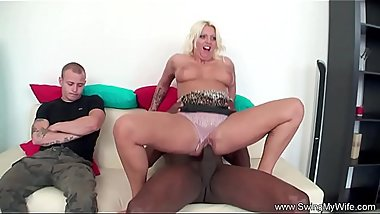 Blonde Swinger Wife Tries BBC