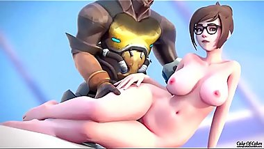 Overwatch one Kiss  PMV  hunter