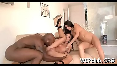 Lovely interracial asshole pounding will turn u on