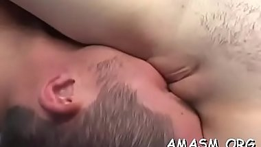 Needy ass milf with huge milk shakes smothering porn with her man