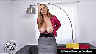 Dirty Talking Milf Julia Ann Strokes &amp_ Sucks Cock POV!
