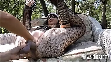 Double fisting and dildo fucking her XXL pussy