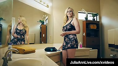 Milking Mommy Julia Ann Sucks & Fucks Raging Rock Hard Cock!