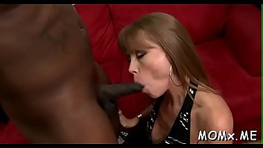 Erotic mother i'_d like to fuck loves having her snatch drilled by a black dick