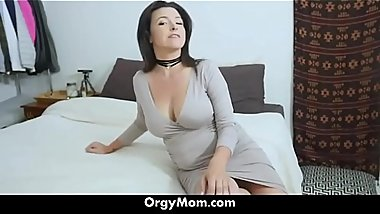 My Hot Mom Seduced Me Wearing Hot Panties - OrgyMom.com