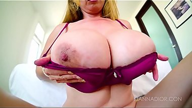 Kianna Dior gets titty fucked pov.
