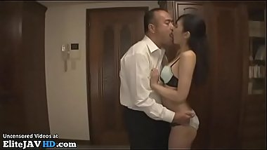 Japanese Milf fucked by husbands friend