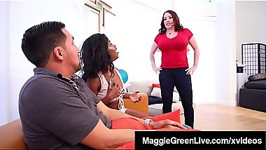 Maggie Green Shares Hubby With Black Sitter Harmonie Marquis