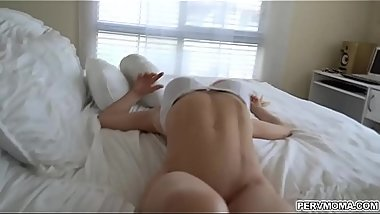 Hot Smoking mom takes her stepson into her bedroom and lets hims slam her milf horny pussy!