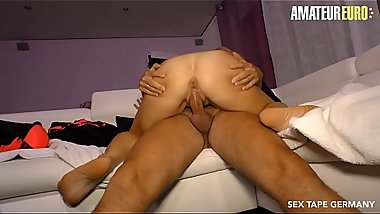 AMATEUR EURO - Hot German Gina Blonde Fucks With Her Partner On Camera