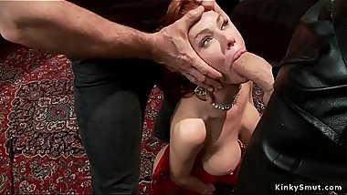 Blonde slave rough made anal fuck big cock