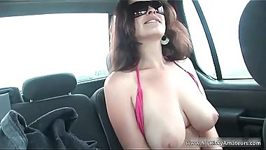 Brunette MILF showing her enormous