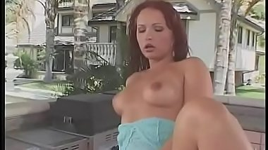 Black cock destroys redhead Katja Kassin'_s tight round ass outdoors