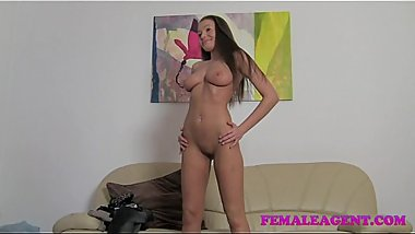 FemaleAgent HD All natural busty beauty