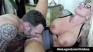 French Cock Alex Legend Mouth Fucks Busty Babe Lolly Ink!