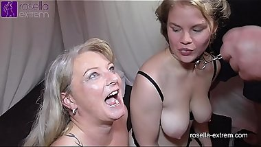 Teen girl Laura and Milf Rosella in the fuck and cum hell! Part 9