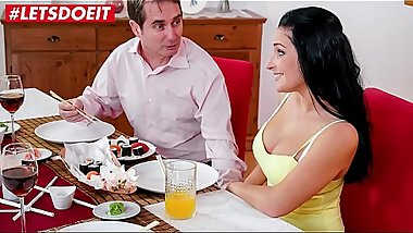 LETSDOEIT - Brunette Teen Takes Good Care Of Her Pervert Uncle