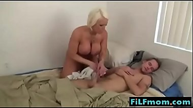 Italian Hot mom likes sleeping son - More Free Mom Sex Vids at FiLFmom.com