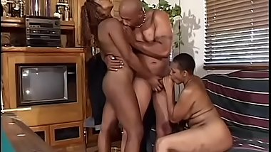 Horny black sluts Arizona and Rikki Myst love to suck a  hard cock in a threesome way