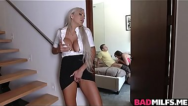 Momma saw Lexi Lovell sucking a big cock deep throat.