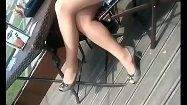 Milf 039 s sexy nylonned legs and high heels