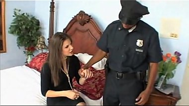 Bobbi Starr gets banged by two black cops