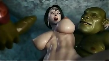 3d sex toon  - Couple of huge cocks drilling hot busty british mom - http://toonypip.vip - 3d sex toon
