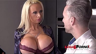 Busty Sex Crazed Milf Sophie Anderson gets her Tight Ass DAP'_ed by 3 Cocks FS035