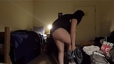 Busty MILF Caught Changing  (PLEASE COMMENT)