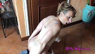Italian housewife breaks her ass for her husband's pleasure