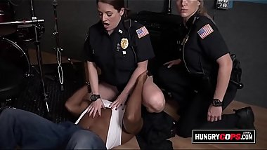 Horny cops get fucked at the studio