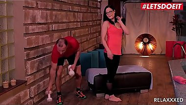 LETSDOEIT - Horny Teen Brunette Dolly Diore Rides Gym Instructor'_s Big Cock