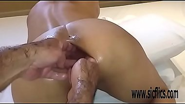 Double anal fisting and extreme insertions Latina