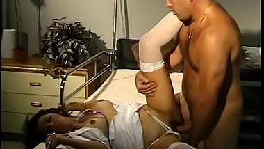 Lucky doctor bangs hot MILF nurse Katrina Spanks on a hospital bed
